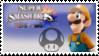 Luigi (Orange) Smash 4 Stamp by DonkeyKongsDab