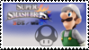 Luigi (White) Smash 4 Stamp by DonkeyKongsDab