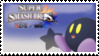 Kirby (Black) Smash 4 Stamp by TheTrueMarkyboy