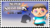 Villager (cyan) Smash 4 Stamp by TheRealMarkyboy
