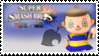 Villager (Blue) Smash 4 Stamp by TheRealMarkyboy