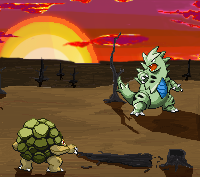 First try with Pixel Art: Battle in the Wastelands by TheRealMarkyboy