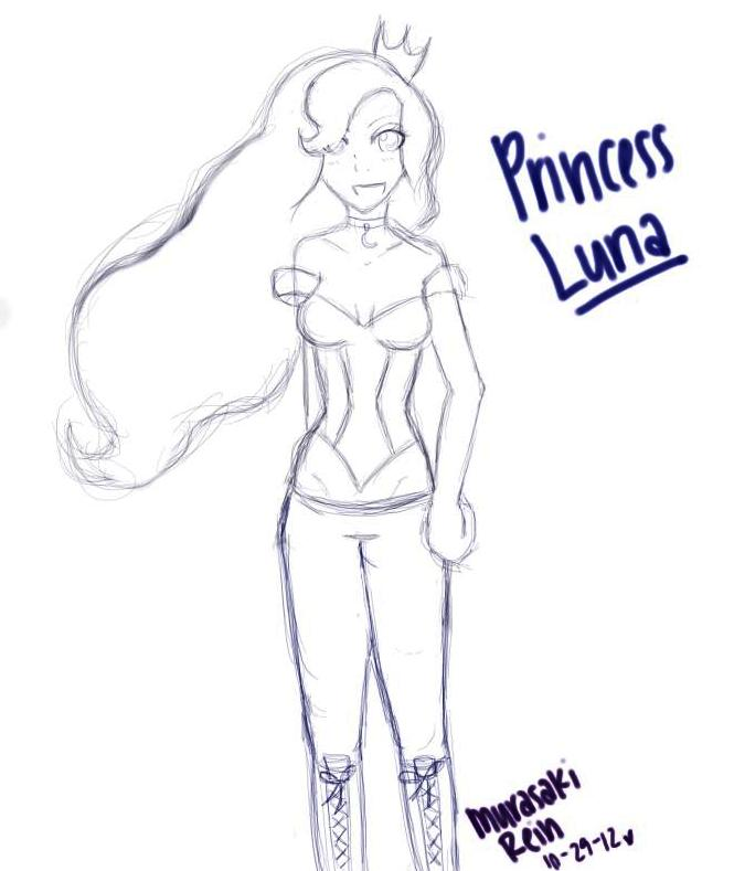Luna Sketch (WIP) by MurasakiRein