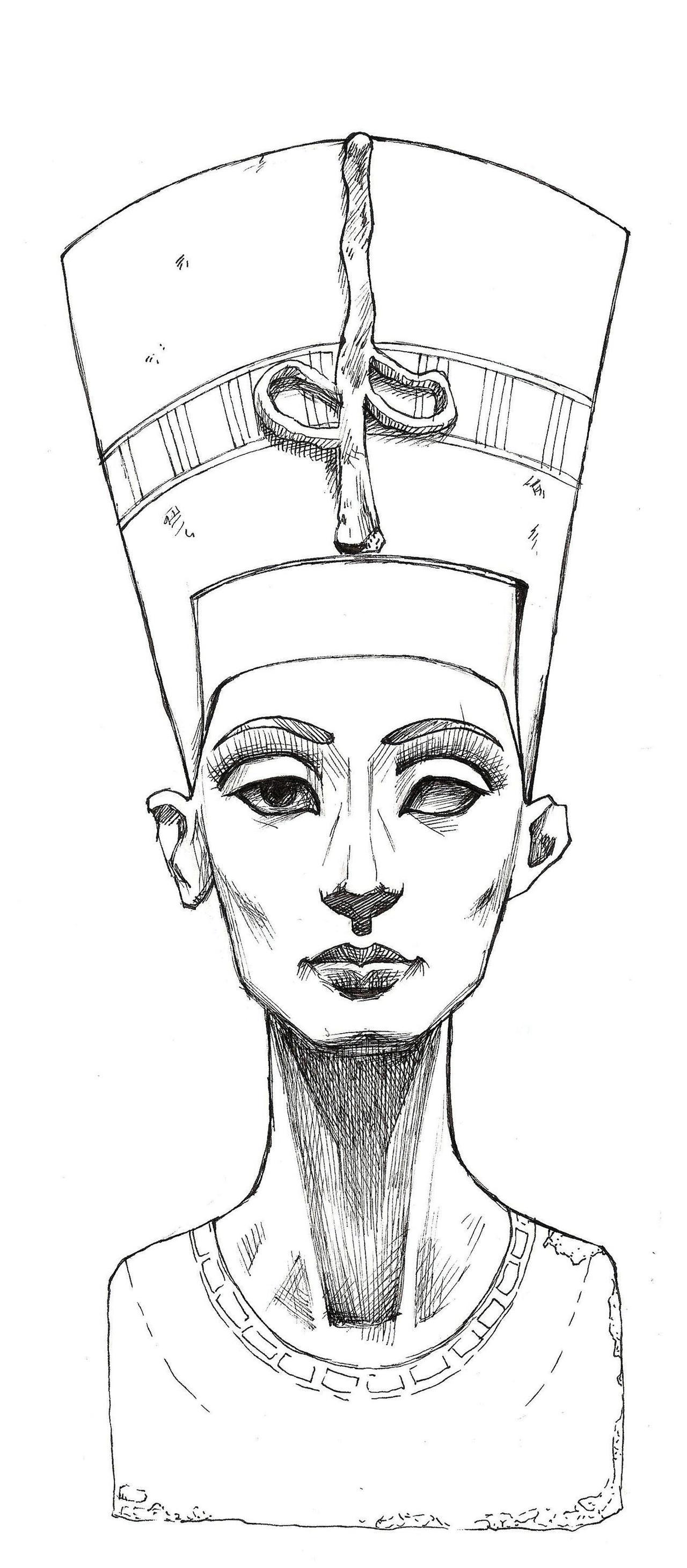 Queen Nefertiti,tattoo design. | Tattoos, Tattoo drawings ... |Nefertiti Tattoo Drawing