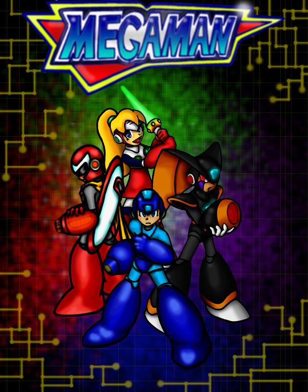 Team Mega Man by erik-red