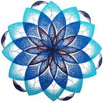 Blue dotted mandala