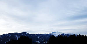 Panorama from the Alps