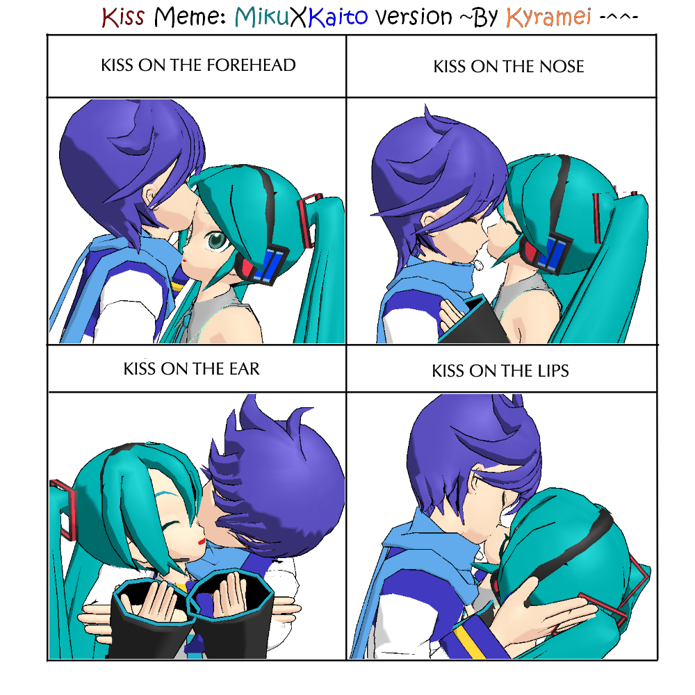 Kaito And Miku Kiss Vocaloid kissmeme v mikuxkaitoVocaloid Kaito And Miku Kiss