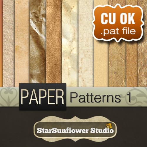 Photoshop Grunge Paper Pattern by starsunflowerstudio