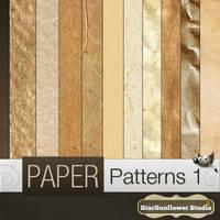 Gimp Grunge Paper Patterns by starsunflowerstudio