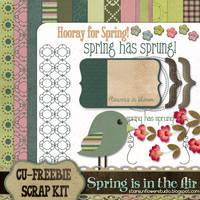 Spring Scrapbook Kit by starsunflowerstudio