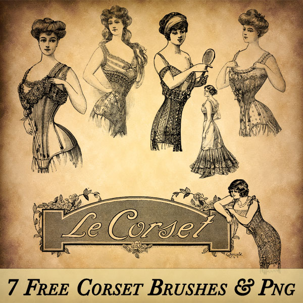 Vintage Corset Brushes and PNG