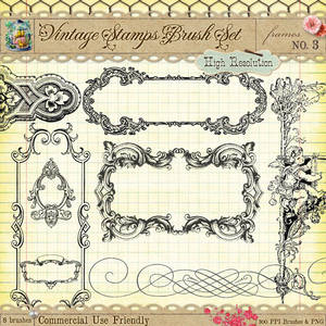 Vintage Stamps PS Brushes 3
