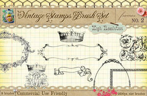 Vintage Stamps PS Brushes 2 by starsunflowerstudio