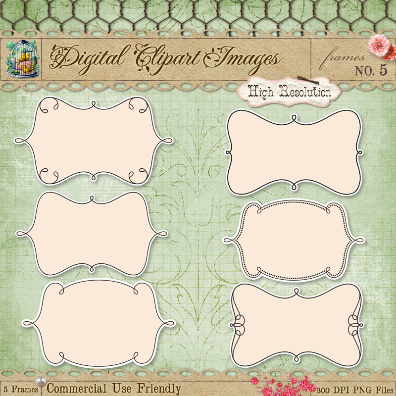 Journal Tags - Label Frames 5 by starsunflowerstudio
