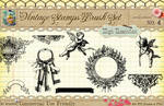 Vintage Stamps PS Brushes 4