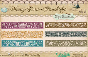 Ornament Borders No. 5 by starsunflowerstudio