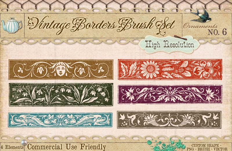 Ornament Borders No. 6 by starsunflowerstudio