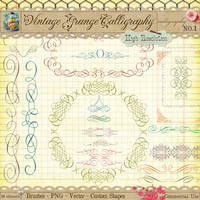 Vintage Calligraphy Borders and Ornaments