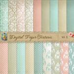 Damask Dots Paper Textures