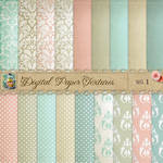 Damask Dots Paper Textures