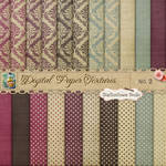 Damask Dots Paper Textures 2