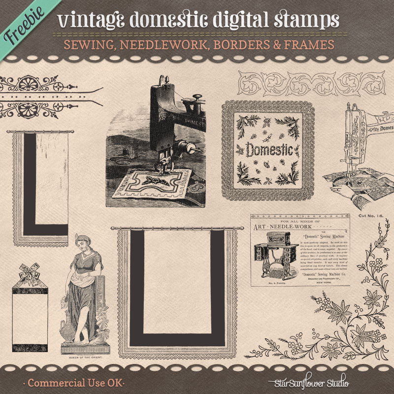 Freebie Vintage Stamps No. 10 by starsunflowerstudio