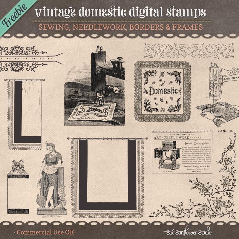 Freebie Vintage Stamps No. 10 by starsunflowerstudio