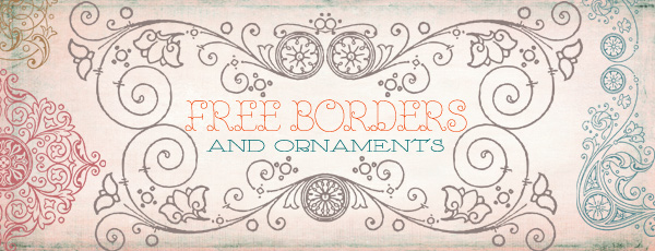 Vintage Frames Borders Clipart 2 by starsunflowerstudio