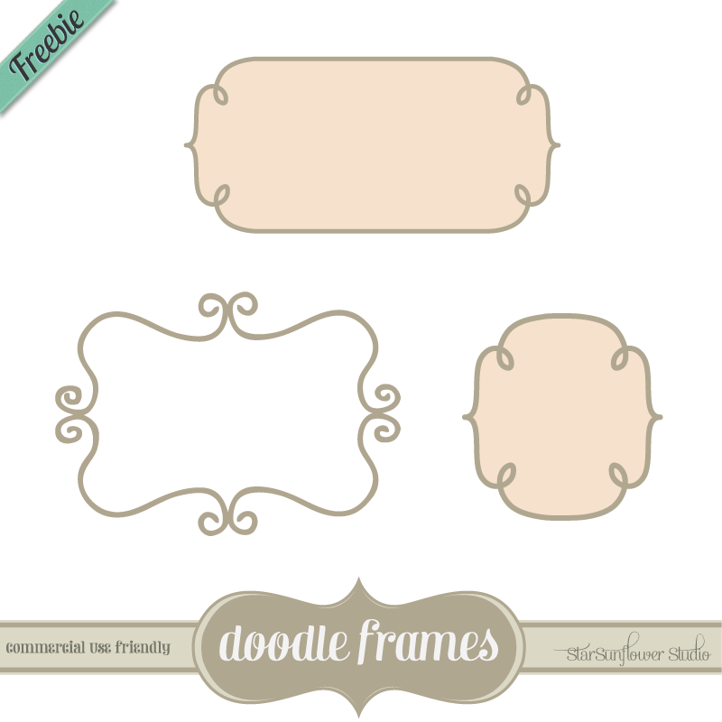 Free Doodle Frames by starsunflowerstudio