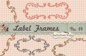 Ornate Vintage Frame Borders No. 14 by starsunflowerstudio