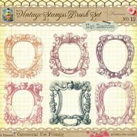 Vintage Stamps No 12 by starsunflowerstudio