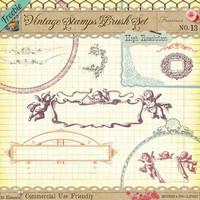 Freebie - Vintage Stamps No 13 by starsunflowerstudio