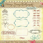 Free Vintage Calligraphy Borders and Ornaments