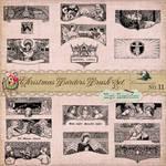 Vintage Christmas Nativity Brushes Vectors Clipart