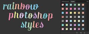 Free Rainbow Photoshop Text Effect Styles