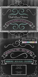 Free Chalk Board Textures Kit - Styles - Ornaments