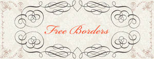 Free Calligraphy Borders Brushes and PS Shapes