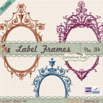 Free Vintage Frames Brushes and Clipart