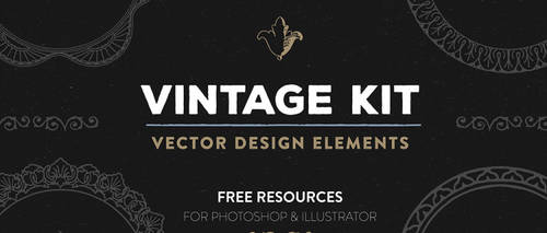 Free Vintage Vector Design Elements by starsunflowerstudio