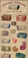 Vintage Stock Images | Suitcase Vector and Brushes