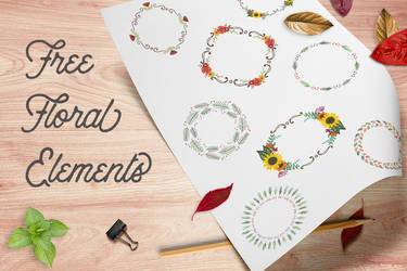 Free Floral Wreaths and Laurels for Graphic Design by starsunflowerstudio
