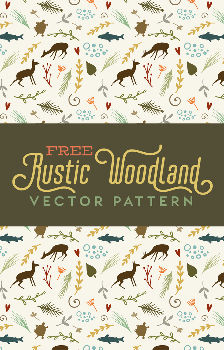 Free Folksy Rustic Woodland Vector Pattern by starsunflowerstudio