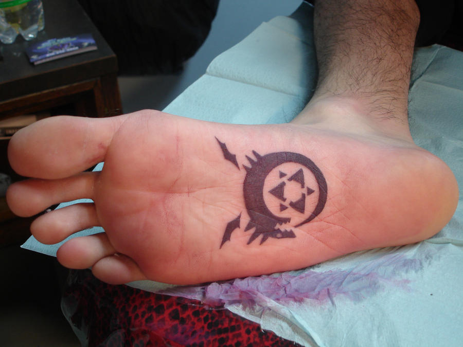 Bottom of foot tattoo by inkaholick on deviantart for Foot tattoo aftercare