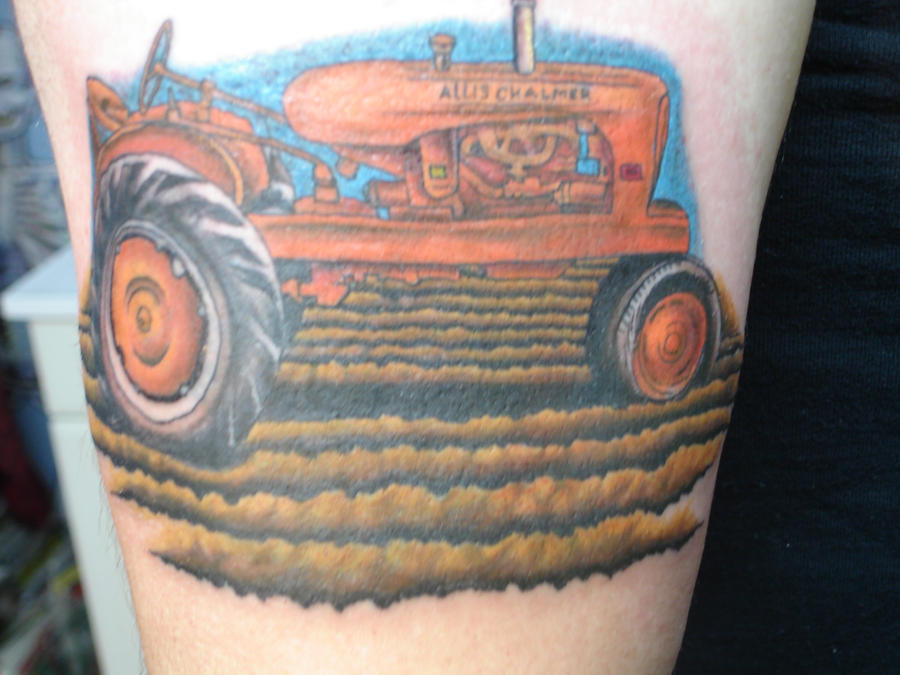 tractor tattoo by inkaholick on deviantart. Black Bedroom Furniture Sets. Home Design Ideas