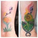 flower tattoo by ed weston