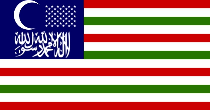 American Islamic flag by Flagsdesigns