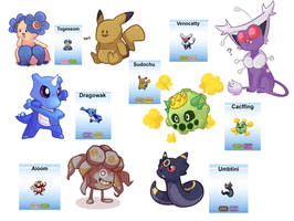 Pokemon Fusions by I-Am-Not-A-Muffin