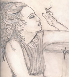 Drea De Matteo sketch by RosesofBlue2008