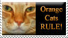 Orange Cats Stamp by ShipwreckedStamps